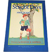 1930 School Days Children's Book Whitman