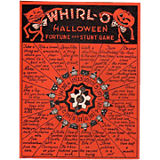 SOLD Vintage Whirl-O Halloween Fortune & Stunt Game