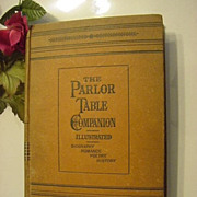 SOLD 1876 Parlor Table Companion Illustrated Victorian Book History Romance Poetry News Happen