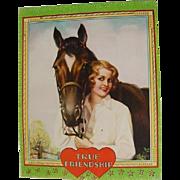 Art Deco Blue Bloods Irene Patten Lovely Horse & Blonde Lady Girl Print 1920s -1930s