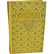 1905 Antique Book Charles Dickens The Cricket on the Hearth Color Plate Illustrations by C.E. Brock