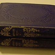 SOLD Antique 1867 2 Volume Set of John Greenleaf Whittier Complete Works Poetry Poem Books - R