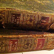 SOLD 1853 History of the World Samuel Maunder Antique Leather Illustrated Book Set SCARCE