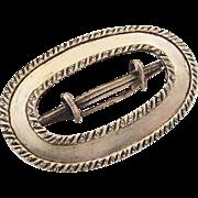 BG41 Victorian to Edwardian R.M.C. Signed Sterling Silver 3 Inch Belt Sash Buckle
