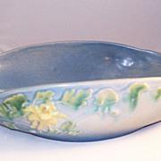 Lovely Roseville Art Pottery Blue Columbine 14 inch Bowl - nice!