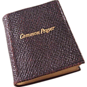 SOLD True Miniature Book - Victorian Book of Common Prayer