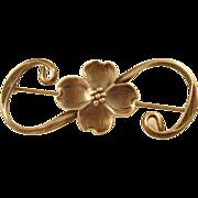 Charming Sterling Brooch - Flower
