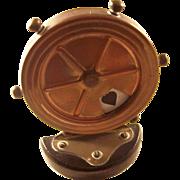 Antique Edwardian Trumps Marker - Ship's Wheel, ca. 1910