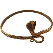 Vintage Egyptian Revival Snake Arm Bracelet - Cobra