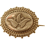 Aesthetic Victorian Antique Silver Brooch - Fern Motif