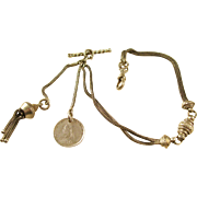 Victorian English Albertina Watch Chain Bracelet - pretty!