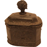 Old Pewter Tobacco  Box