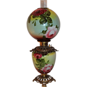 Wonderful RARE Gone with the Wind Oil  Banquet  Lamp ~Hand Painted Masterpiece~ Breathtaking B