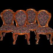 4 Matching J.H.Belter Oak Chairs
