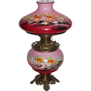 Wonderful RARE Gone with the Wind Oil Lamp ~Hand Painted Masterpiece~ Breathtaking BEAUTY WITH