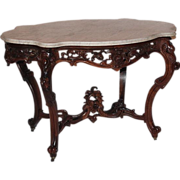 REDUCED WOW!! OUTSTANDING 1850's Rococo Rosewood Victorian Center Table attrib. to Joseph Meek