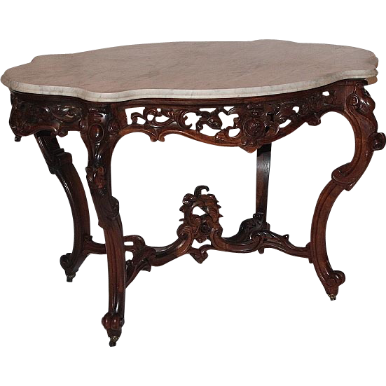 WOW!! OUTSTANDING 1850's Rococo Rosewood Victorian Center Table attrib. to Joseph Meeks ~ Magnificent Piece of Fine Antique Furniture