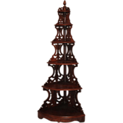 SOLD Museum Quality ~ RARE American Rococo Rosewood Corner Etagere  ~Circa 1850~Collector's Dr