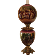 """SOLD VERY RARE HUGE Gone with the Wind Oil Lamp ~13"""" SHADE~Masterpiece Breathtaking BEAUT"""
