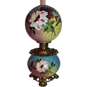 Rare Gone with the Wind Oil Banquet Lamp  ~Masterpiece Breathtaking BEAUTY WITH HAND PAINTED H