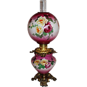 100% Original  Gone with the Wind Banquet or Parlor Oil Lamp ~Masterpiece Breathtaking BEAUTY