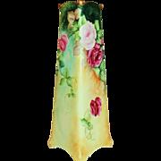 Gorgeous RARE Square Austrian Vase with ROSES