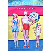 REDUCED Boots and Her Buddies Paper Dolls Vintage 1943 Uncut