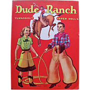 REDUCED Dude Ranch Turnabout Paper Dolls Vintage 1943 Uncut