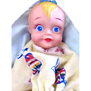 Joan Palooka Baby Doll in Original Box with Birth Certificate Vintage 1952