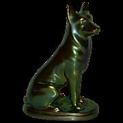REDUCED Zsolnay Porcelain - Hungary - German Shepherd Dog