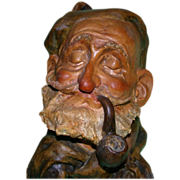 REDUCED Vintage Borsato Sculpture of Man With Pipe