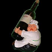 REDUCED Whimsical Vintage Chef Bottle Holder