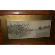 REDUCED J. Marque, Well-Listed French Artist - Moody and Arresting  Vintage Signed Landscape .