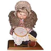 "Precious Mixed Media Soft Sculpture ""Mommy's Surprise"", by Sara Baker, Wonderful For Any Time Of Year!"