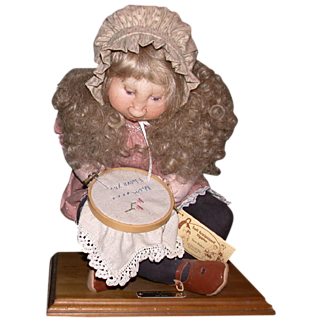 "REDUCED Precious Mixed Media Soft Sculpture ""Mommy's Surprise"", by Sara Baker, Wonderful For Any Time Of Year!"