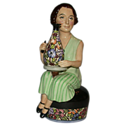 """REDUCED Closed Limited Edition - Kevin Francis """"Charlotte Rhead"""" modeled by sculptor"""
