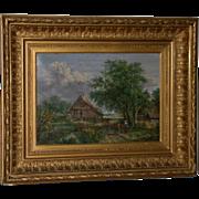 "SOLD Original 19th Century Oil, Landscape, signed ""W. Armons, 1883"""