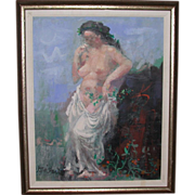 "Byron Browne (1907-1961) - Well-listed Artist - Original Oil On Canvas - ""Muse"""