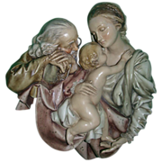 REDUCED Borsato Sacred Family Large Wall Plaque - Simply Wonderful!