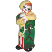 "REDUCED Big Happy ""Clown Artist"" - Signed by Artist Oskar Raoul, Mexico"