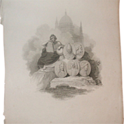 "REDUCED Fabulous Antique Print - ""London Published by R. Bowyer Historic Gallery, Pall Ma"