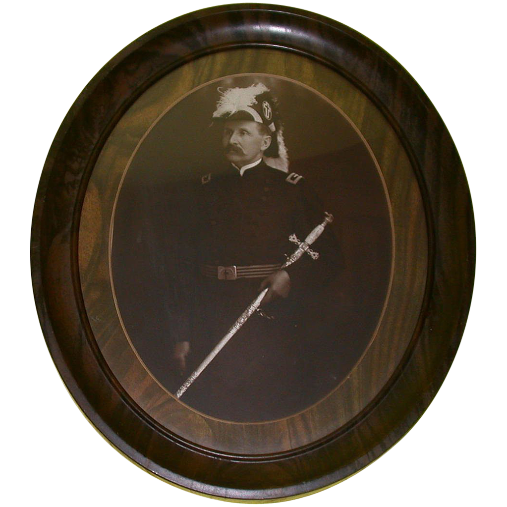 Antique Portrait Photograph Of Military Officer, c 1800s