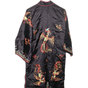 REDUCED Magnificent Ceremonial Silk Robe, C. 1940, Elaborate  Adornment