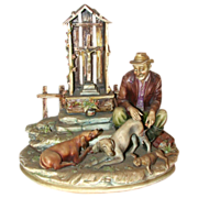 "REDUCED Borsato - Multi-Figural Porcelain Sculpture - ""Canine Casualty"""