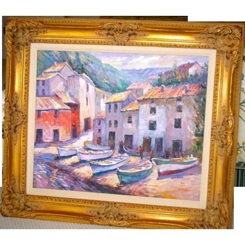 """Oil On Canvas - Tom Onig - """"Safe Haven"""""""