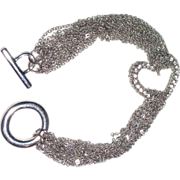 REDUCED CHER:  Vintage Rhinestone Heart Bracelet From Cher's Personal Collection