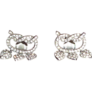 REDUCED CHER:  Vintage Rhinestone Drop Heart Earrings From Cher's Personal Collection