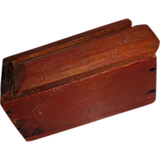 Hand-Made Wooden Slide Lid Box, Antique, Suffield, Connecticut, Circa 1800