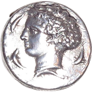 Whiting Silver Match Safe (Vesta) - Form Of Ancient Coin - Circa 1900