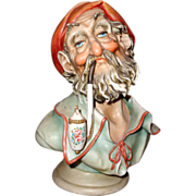 "Borsato - ""Man With Pipe"" - Wonderful Porcelain Sculpture -Great Detail - Great Humo"
